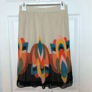 Pleated multicolor skirt